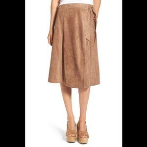 ASTR faux suede wrap skirt BNWT S